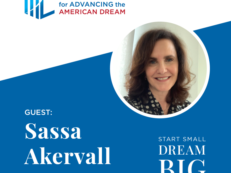 Start Small Dream Big Podcast Guest Graphic Sassa Akervall